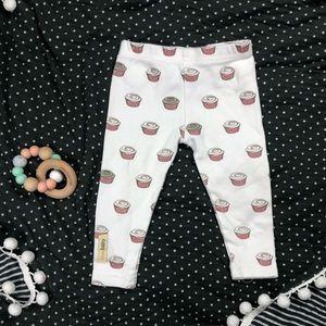 L'ovedbaby Coral Cupcake Leggings